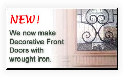 We make timber doors with wrought iron